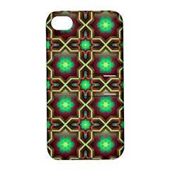 Pattern Background Bright Brown Apple iPhone 4/4S Hardshell Case with Stand