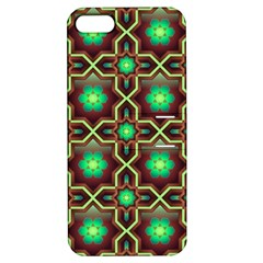 Pattern Background Bright Brown Apple iPhone 5 Hardshell Case with Stand