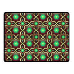 Pattern Background Bright Brown Double Sided Fleece Blanket (Small)