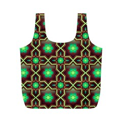 Pattern Background Bright Brown Full Print Recycle Bags (M)