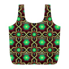 Pattern Background Bright Brown Full Print Recycle Bags (l)