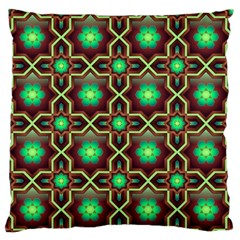 Pattern Background Bright Brown Large Flano Cushion Case (two Sides)
