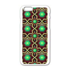 Pattern Background Bright Brown Apple Iphone 6/6s White Enamel Case