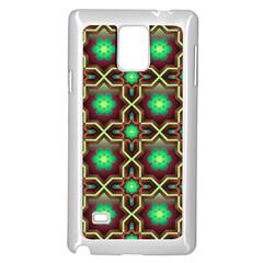 Pattern Background Bright Brown Samsung Galaxy Note 4 Case (White)