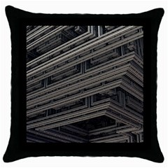 Fractal 3d Construction Industry Throw Pillow Case (black)