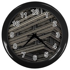 Fractal 3d Construction Industry Wall Clocks (black)
