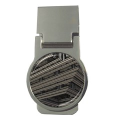 Fractal 3d Construction Industry Money Clips (Round)