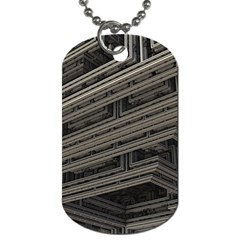 Fractal 3d Construction Industry Dog Tag (Two Sides)