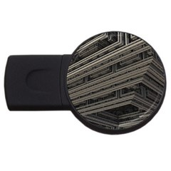 Fractal 3d Construction Industry Usb Flash Drive Round (2 Gb)