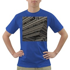 Fractal 3d Construction Industry Dark T Shirt