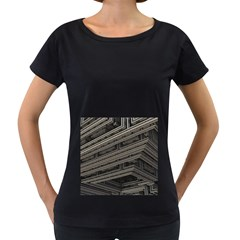 Fractal 3d Construction Industry Women s Loose-Fit T-Shirt (Black)