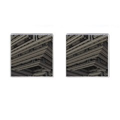Fractal 3d Construction Industry Cufflinks (Square)