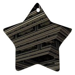 Fractal 3d Construction Industry Star Ornament (Two Sides)