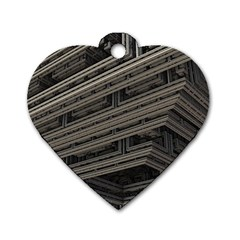 Fractal 3d Construction Industry Dog Tag Heart (one Side)