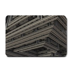 Fractal 3d Construction Industry Small Doormat