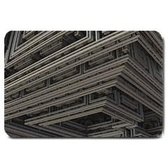 Fractal 3d Construction Industry Large Doormat