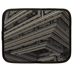 Fractal 3d Construction Industry Netbook Case (Large)