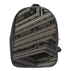 Fractal 3d Construction Industry School Bags(Large)