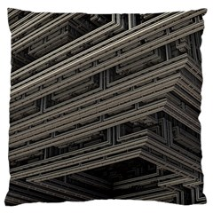 Fractal 3d Construction Industry Large Cushion Case (One Side)