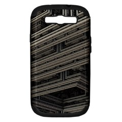 Fractal 3d Construction Industry Samsung Galaxy S Iii Hardshell Case (pc+silicone)