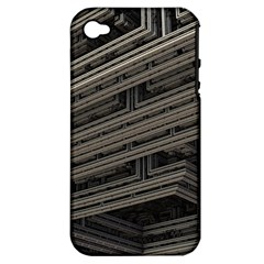 Fractal 3d Construction Industry Apple iPhone 4/4S Hardshell Case (PC+Silicone)