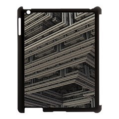 Fractal 3d Construction Industry Apple Ipad 3/4 Case (black)