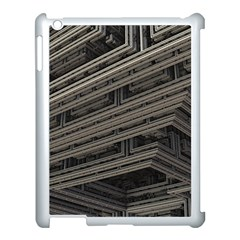 Fractal 3d Construction Industry Apple iPad 3/4 Case (White)
