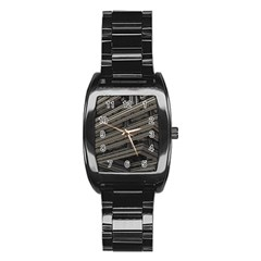 Fractal 3d Construction Industry Stainless Steel Barrel Watch
