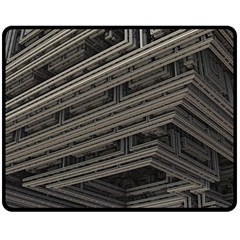 Fractal 3d Construction Industry Double Sided Fleece Blanket (Medium)