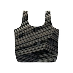 Fractal 3d Construction Industry Full Print Recycle Bags (s)