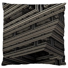 Fractal 3d Construction Industry Large Flano Cushion Case (two Sides)