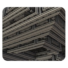 Fractal 3d Construction Industry Double Sided Flano Blanket (small)