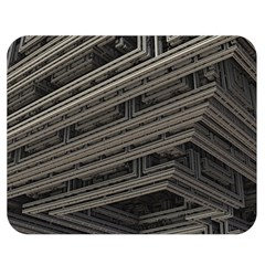 Fractal 3d Construction Industry Double Sided Flano Blanket (medium)