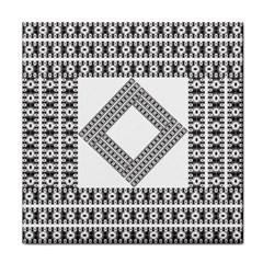 Pattern Background Texture Black Tile Coasters