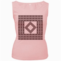 Pattern Background Texture Black Women s Pink Tank Top