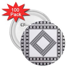 Pattern Background Texture Black 2.25  Buttons (100 pack)