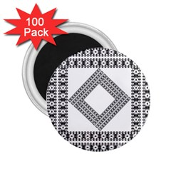 Pattern Background Texture Black 2.25  Magnets (100 pack)