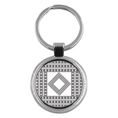 Pattern Background Texture Black Key Chains (round)