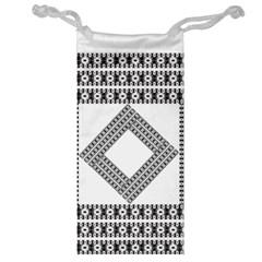 Pattern Background Texture Black Jewelry Bag