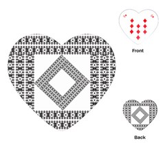 Pattern Background Texture Black Playing Cards (Heart)