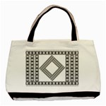 Pattern Background Texture Black Basic Tote Bag Front