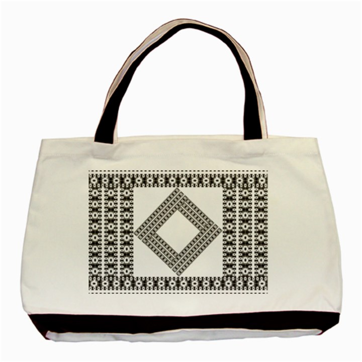 Pattern Background Texture Black Basic Tote Bag
