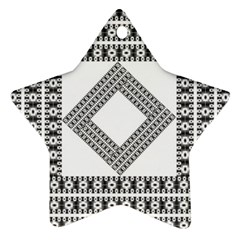 Pattern Background Texture Black Star Ornament (Two Sides)