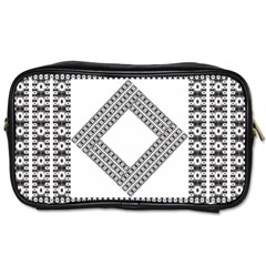 Pattern Background Texture Black Toiletries Bags 2 Side