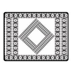 Pattern Background Texture Black Fleece Blanket (Small)