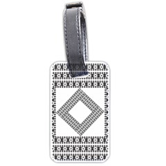 Pattern Background Texture Black Luggage Tags (one Side)