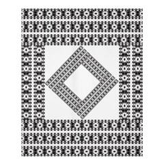 Pattern Background Texture Black Shower Curtain 60  x 72  (Medium)