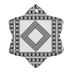 Pattern Background Texture Black Ornament (snowflake)