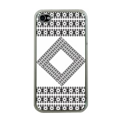 Pattern Background Texture Black Apple iPhone 4 Case (Clear)