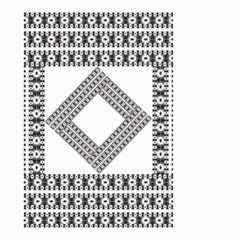 Pattern Background Texture Black Small Garden Flag (Two Sides)